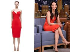 Lucy Liu in Victoria Beckham Resort Pre-Spring Summer 2016 – The Tonight Show starring Jimmy Fallon