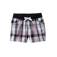 Girls 4-10 Jumping Beans® Plaid Shorts, Girl's, Size: 10, Black