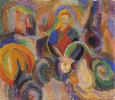 Le marché au Minho by Sonia Delaunay