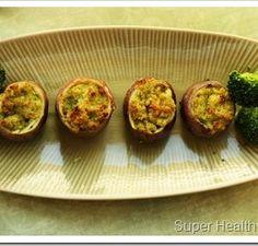 Broccoli Pesto Stuffed Potato Bites