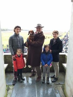 Prince Henrik, Prince Nikolai, Prince Felix, Prince Henrik jr and Princess Athena of Denmark attended the annual Hubertus Hunt in Dryehaven.