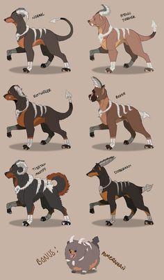Houndoom Breeds by GrolderArts on DeviantArt