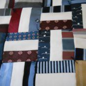 Quilt out of old neckties.  A cherished keepsake.