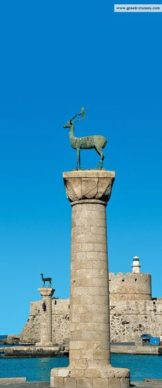 This was once the site of the Colossus of Rhodes, one of the Severn Wonders of the Ancient World.