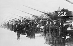Korean War tanks | North Korean Army tank regiment during the Korean War 1950-1953: