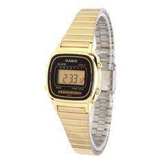 1b7abfd89824 Reloj Digital Casio de Mujer LA670WGA Dorado Retro Barato