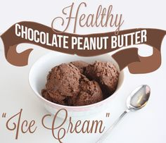 Healthy Chocolate Peanut Butter Ice Cream. And it only takes 3 ingredients that you probably already have on hand.