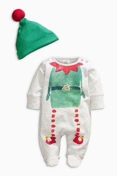 V/êtements de No/ël B/éb/é Gar/çon Elfe Costume nouveau-n/é No/ël Pyjama