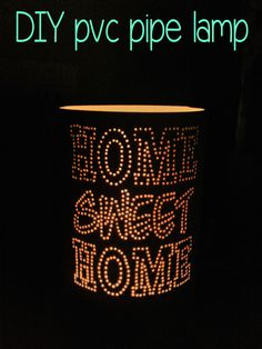Turn a pvc pipe into a lamp.  This is awesome!  #crafts #diy #lamps