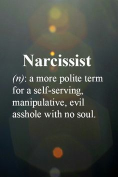 problem is, narcissists don't know they are narcissists. they're just clueless, so just walk away-no point in explaining.