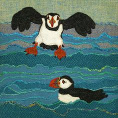 Jane Jackson - Harris Tweed Textile Art, Prints and Greetings Cards Wool Applique, Embroidery Applique, Machine Embroidery, Textile Fiber Art, Textile Artists, Jane Jackson, Textiles Techniques, Free Motion Embroidery, Bird Prints