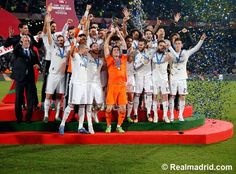 Club World Cup celebration on the Grand Stade de Marrakech pitch #HalaMadrid
