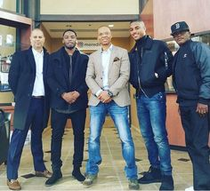 Jesse Collins (Producer of the Mini Series) Actor Woody who plays Bobby Brown,Ronnie Devoe,Actor Keith Powers and Brooke Payne all ready for the Premiere in ATL
