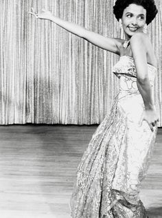 Lena Horne performs on stage at The Sands in Las Vegas, June 1955.