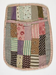 Old patch pocket Eesti muuseumide veebivärav - tasku Quilting Projects, Quilting Designs, Sewing Projects, Sewing Pockets, Doll Beds, Textiles, Doll Quilt, Patchwork Patterns, Antique Quilts