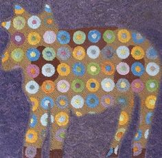 Laura Kenney Rugs: Spotted Cow SOLD