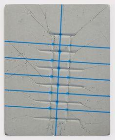 "Jugoslav Mitevski [Macedonia] (b 1978) ~ ""Untitled"", 2014.  Spraypaint on concrete (33 x 42 x 1,5 cm). | b | #art #relief #abstract #minimalart #conceptualart"