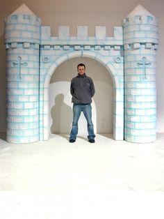 diy castle backdrop - Google Search