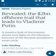 Se a Alma mais Honesta fosse mais Instruída seguiria os Passos do Putin ➤ http://www.theguardian.com/news/2016/apr/03/panama-papers-money-hidden-offshore ②⓪①⑥ ⓪④ ⓪③ #ILoveLula