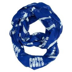 NFL Indianapolis Colts Sheer Infinity Scarf One Size Blue