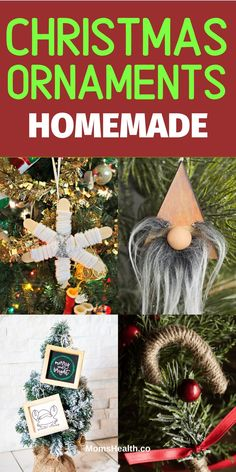 Christmas Ornaments Homemade Ideas - 15 Best DIY Crafts for Kids to Make. Get inspired with these Christmas ornaments to craft with your children. Christmas Ornaments To Make, Felt Christmas, Christmas Tree Decorations, Christmas Crafts, Christmas Ideas, Craft Stick Crafts, Diy Crafts, Crafts For Kids To Make, Diy Wreath
