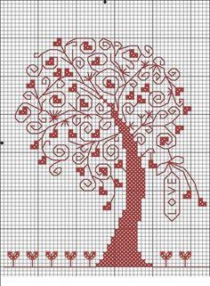 """Схема вышивки крестом: """"примитивное дерево"""" скачать бесплатно"""