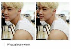 BTS Shoulder hyung Jin