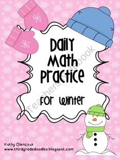 Winter Math Warm Ups product from Third-Grade-Doodles on TeachersNotebook.com