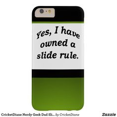 CricketDiane Nerdy Geek Dad Slide Rule STEM Barely There iPhone 6 Plus Case