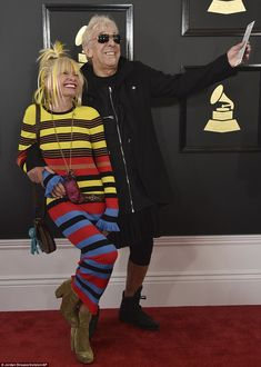 Having fun: Designer Betsey Johnson and ex-husband John Cale had a bit of a giggle...
