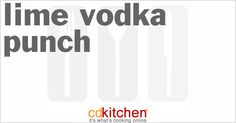 Lime Vodka Punch from CDKitchen.com