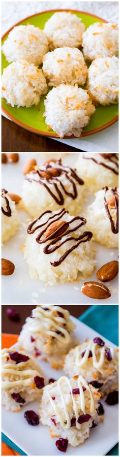 Favorite Coconut Macaroons Recipe - chewy, moist, and made into 4 different delicious varieties!