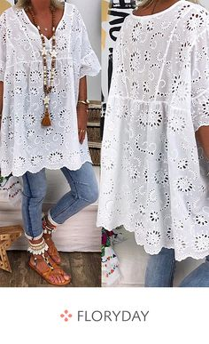 Plus size solid casual V-neckline sleeves blouses, basics, fashion tops, plus size. Mode Outfits, Fall Outfits, Boho Fashion, Fashion Outfits, Womens Fashion, Mode Boho, Estilo Boho, V Neck Blouse, Plus Size Fashion