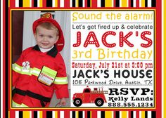 Personalized Firetruck Birthday Party PHOTO by DewDropDigitals, $12.00