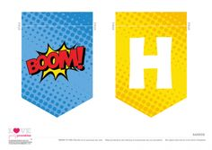 Superhero Party Free Printable   Happy Birthday Banner | CatchMyParty.com