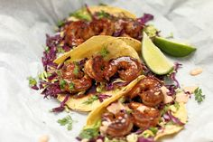 Who can resist a taco? Well, here's a perfect recipe for when you're in the mood for a delicious shrimp taco and you want it fast. Perfect for an easy, no-fuss weekday dinner this BBQ shrimp taco recipe tastes just as good as it looks. Shrimp Recipes, Mexican Food Recipes, Healthy Recipes, Ethnic Recipes, Barbeque Shrimp, Bbq, Shrimp Tacos, Fish Tacos, Perfect Tacos