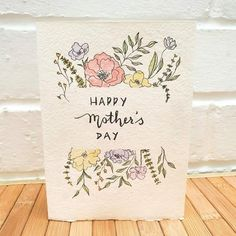 Mother's Day Gift Card, Happy Mother's Day Card, Happy Birthday Cards, Mothers Day Crafts, Happy Mothers Day, Diy Cards, Cute Cards, Birthday Card Drawing, Mother Card