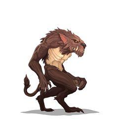 """""""Wild Hunter"""" Artist Alekzander Zagorulko. Wild Hunter, D D Characters, Fictional Characters, Rpg Maker, Werewolf, Great Britain, Creatures, Artwork, Robots"""