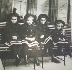 Grand Duchesses Tatiana Nikolaevna, Maria Nikolaevna, Olga Nikolaevna and Anastasia Nikolaevna.