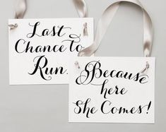 Two Wedding Signs Here Comes The Bride Just Wait Til You See | Etsy Rose Gold Ribbon, Grey Ribbon, Ribbon Colors, Funny Wedding Signs, Wedding Humor, Ring Bear Signs, Flower Girl Signs, Second Weddings, Ring Bearer