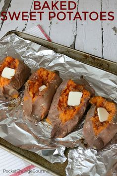 BAKED SWEET POTATO -