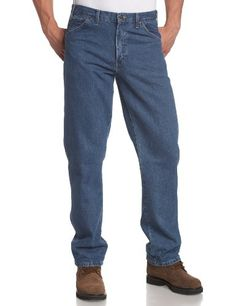 Buffalo Outdoors™ Mens Straight Leg Comfort Jeans Basic Work Denim Pants 2018