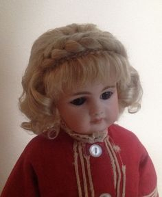 DSB natural mohair wig.  Hand-wefted with braided crown.