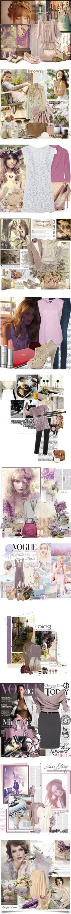 """lilac bush"" by natalinova ❤ liked on Polyvore"