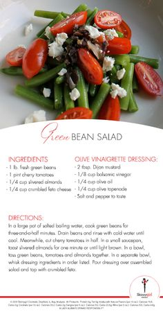 July 4th food doesn't have to kill your diet. Serve this Green Bean Salad instead!