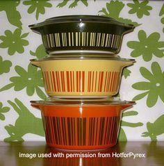 Dishes Vintage, Pyrex Vintage Dishes, Pyrex Casseroles, Vintage Pyrex, Pyrex Dishes, Dishes Patterns, Barcode Casseroles, Rare Colors, Absolutely Pyrex