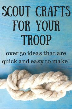 These great ideas for scout crafts for your troop are all quick and easy. They are great for scouts or any group of kids that need craft ideas!