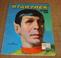 Vintage Star Trek Coloring Book - Saalfield Publishing - 1975 - Free Shipping!