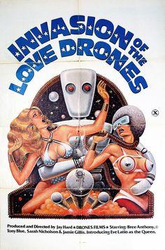"les-retrogaleries-de-gutsy: "" Invasion of the Love Drones - Jerome Hamlin - 1977 """