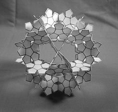 Fractal Crown Icosidodecahedron - 2008 (paper) by albertpcarpenter